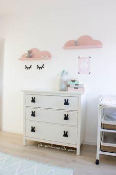 Chambre bébé rose et mint