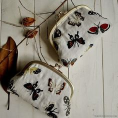 Autumn butterfly embroidery