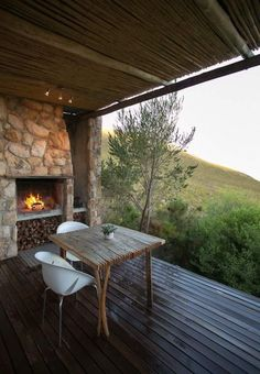 A romantic mountain lodge in the tranquil mountains of the Overberg, South Africa Eco Cabin, Cabin Homes, Outdoor Spaces, Outdoor Living, Cabana, Weekend Cottages, Home Suites, Rustic Patio, Farm Stay