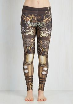 Cogs And Gears Are Extra Comfy On These Steampunk Leggings