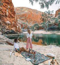 The PRINTED picnic rug wandering in the wild with and ( Road Trip, Beautiful Places To Travel, Travel Aesthetic, Travel Goals, Travel Couple, Australia Travel, Van Life, Travel Around, The Great Outdoors