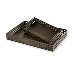 Emma perforated trays - set of 2 - Interlude None