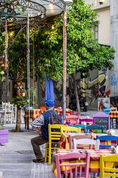 .~Taverna in Thessaloniki, Greece~.