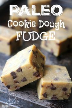 This chewy chocolate chip cookie dough fudge has just a hint of toffee flavor due to the browned butter. So easy and so good! This chewy chocolate chip cookie dough fudge has just a hint of toffee flavor due to the browned butter. So easy and so good! Cookie Dough Vegan, Cookie Dough Fudge, Cookie Dough Recipes, Fudge Recipes, Gourmet Recipes, Real Food Recipes, Paleo Fudge, Delicious Recipes, Paleo Recipes Easy