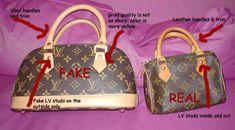 con la imitaciones: carteras Louis Vuitton, ¿verdaderas o falsas