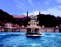 Looking for a relaxing afternoon away from the Strip? Stop by the Hoover Dam for a quick tour, enjoy a deli lunch cruise onboard an authentic Mississippi-style paddle wheeler on Lake Mead, and savor the sweet, sweet view. Las Vegas Tours, Lake Mead, Hoover Dam, Las Vegas Strip, Travel Deals, Day Trips, Places To Go, San Francisco, Around The Worlds