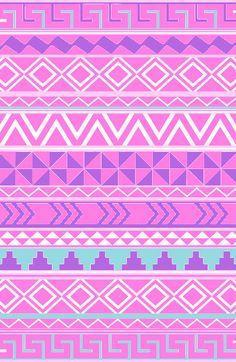 Tribal Background | Pink Seamless Pattern | Seamless Background.