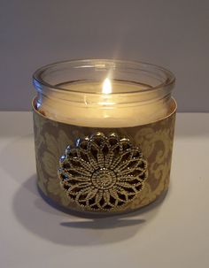 Cover glass jar candle