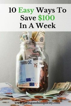 Are you looking to jump start your savings? Are you looking for easy ways to save money? Learn 10 easy ways you could save $100 in a week.