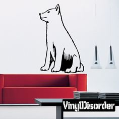 Wolf Wall Decal - Vinyl Decal - Car Decal - DC013