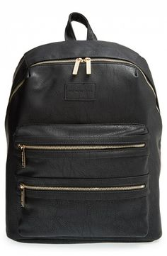 The Honest Company City Faux Leather Diaper Backpack