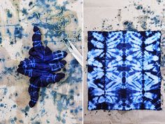 Today marks HonestlyWTF's four year anniversary. Four years! To celebrate, we're revisiting the very first tutorial we ever featured on the site: shibori tie dye. Lauren and I first discovered shibori after discovering an old… Tie Dye Folding Techniques, Fabric Dyeing Techniques, Ty Dye, Shibori Tie Dye, Textiles, Indigo Dye, Tie Dye Patterns, Tampons, How To Dye Fabric