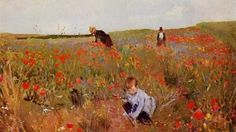 Mary Cassatt Poppies in a Field canvas prints. Add a frame or choose other sizes and frame styles for your Mary Cassatt Poppies in a Field canvas prints. Joan Mitchell, Pierre Auguste Renoir, Edouard Manet, Monet, Mary Cassatt Art, Champs, Painting Prints, Art Prints, Amedeo Modigliani