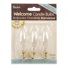 Candle Lamp Welcome 7 Watt Candle Bulbs 3 Pack Window Candles, Led Candle Lights, Candle Lamp, Glass Candle Holders, Battery Lamp, Candles For Sale, Decorative Candles, Bulbs, Light Bulb