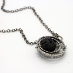 Lava Stone Orbit necklace by Laura Cardwell