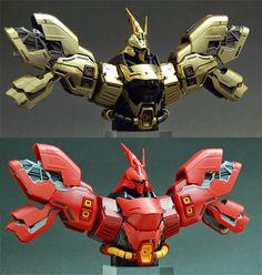 "Custom Build: MG 1/100 MSN-04 Sazabi Ver. Ka ""GBWC 2013 Gold Trophy ver."" - Gundam Kits Collection News and Reviews"
