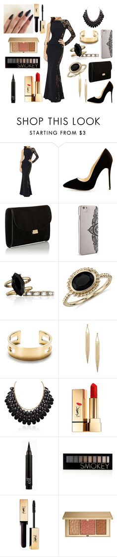 """Prom 2016"" by aribear-17 ❤ liked on Polyvore featuring Mansur Gavriel, Nanette Lepore, Chloe + Isabel, Blue Nile, Yves Saint Laurent, Forever 21 and Estée Lauder"