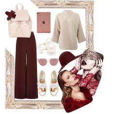 Untitled #11 by oksana-m on Polyvore featuring polyvore мода style The Row River Island Oscar de la Renta Mansur Gavriel Forever 21 Preen Hat Attack