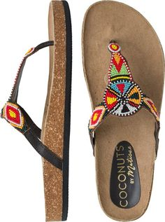 Coconuts Hippie Embellished Sandal, love the colorful beads.