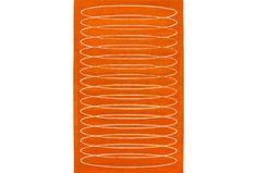 96X120 Rug-Cirque Orange - Signature