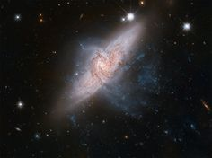 NGC 3314 Two galaxies overlapping