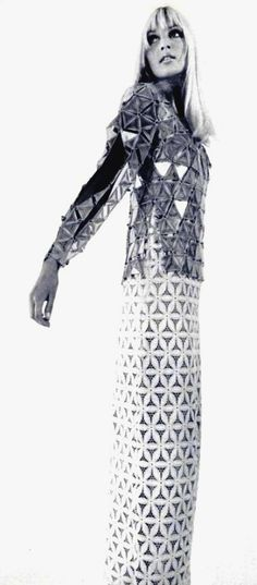 Vintage gown by Paco Rabanne (1969)