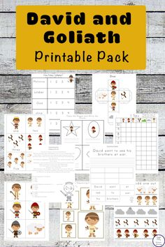 This David and Goliath Printable Pack will help your children learn about this amazing story of faith and courage.