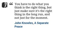 A Separate Peace quote