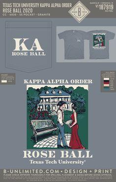 Kappa Alpha Order Event Shirt | Fraternity Event | Greek Event #kappaalphaorder #kappaalpha #theorder #ka Kappa Alpha Order, Texas Tech University, Social Events, Fraternity, Greek, Shirts, Rose, Design, Pink