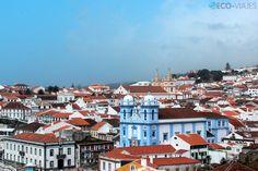 Panorámica de Angra do Heroísmo, Terceira Island, Azores, Portugal