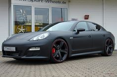 "Porsche Panamera 4S matte black on etabeta 22"""