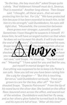 """Harry Potter """"always"""" excerpt avaialbe on Redbubble. Available as iPhone Cases, Samsung Galaxy Cases, Home Decors, Tote Bags, Cards, and iPad Cases"""