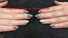 Gellac on acrilic nails with matte topcoat