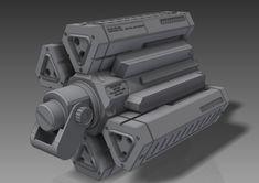 Sci-Fi FPS Props by Connor Benton, via Behance