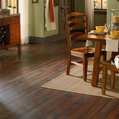 Vinyl flooring is no longer the ugly choice it used to be. This beautiful Ashford Walnut Plank is from Mannington's Adura Vinyl collection. We service the Charlotte, Raleigh, and Greensboro areas of North Carolina. Vinyl Wood Planks, Wood Laminate Flooring, Vinyl Plank Flooring, Kitchen Flooring, Hardwood Floors, Wood Vinyl, Luxury Vinyl Tile Flooring, Luxury Vinyl Plank, Mannington Adura
