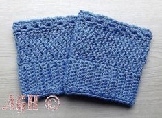 AG Handmades: Easy Reversible Boot Cuffs - free crochet pattern in 5 sizes.
