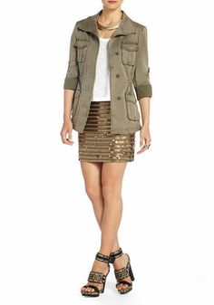 Shop BCBG's selection of jackets for women. Browse a variety of women's fashion jackets to find the perfect styles to complete your outfits. Fancy Skirts, Safari Jacket, Casual Outfits, Fashion Outfits, Cool Style, My Style, Fabulous Dresses, Utility Jacket, Online Shopping Clothes