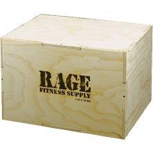 "RAGE 12"" Wood Stackable Plyo Box"
