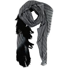 Melt Scarf (510 BRL) ❤ liked on Polyvore featuring accessories, scarves, grey, gray shawl, striped shawl, gray scarves, striped scarves and grey scarves