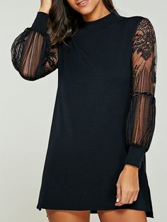 SHARE & Get it FREE   Lace Spliced Turtle Neck Sweater DressFor Fashion Lovers only:80,000+ Items • New Arrivals Daily Join Zaful: Get YOUR $50 NOW!