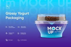 Yogurt Glossy Packaging MockUp by I'm MockUp on Yogurt Packaging, Dairy Packaging, Perfect Image, Perfect Photo, Love Photos, Cool Pictures, Glossier Packaging, Bag Mockup, Creative Photoshop