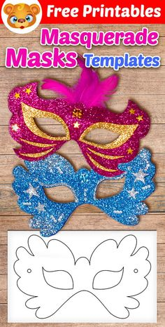 Mardi Gras Masks for Kids to Make - Happy Hooligans, Gras HAPPY Hooligans K .Mardi Gras Masks for Kids to Make - Happy Hooligans, Gras HAPPY Hooligans Kids Mardi Carnival party - 4 quick ideas Free Activities For Kids, Learning Games For Kids, Crafts For Kids, Free Preschool, Preschool Learning, Mardi Gras Mask Template, Masquerade Mask Template, Masquerade Masks, Superhero Mask Template