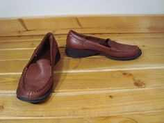 Women Dockers Brown Pebble Leather Loafer Shoes 10 M | eBay