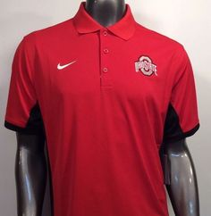 0652628b Ohio State Buckeyes Nike Dri-fit 657729 NCAA L Large Golf Polo Shirt  Clearance | eBay