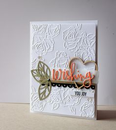 Bridal shower card featuring Simon Says Stamp Wishing wafer die #sssfave