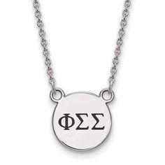 Sterling Silver LogoArt Phi Sigma Sigma XS Enl Pend w/Necklace