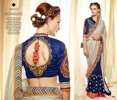 New Designer Sari Kimora bollywood ethnic indian wedding pakistani saree blouse  #Handmade #Saree