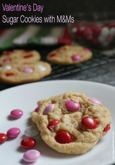 Easy Sugar Cookies Recipe with M&Ms