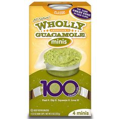 Made with nutrient-dense avocadoes, guacamole is bursting with fiber, potassium, and vitamins K, C, and B6. Plus, with more folate per ounce than any other fruit, avocados can help lower the risk of birth defects. Wholly Guacamole Minis are a convenient way to include this super food in your prenatal diet. Scoop it up with baby carrots or cherry tomatoes to get even more bang for your nutrition buck. (Just don't overdo it on the chips!)