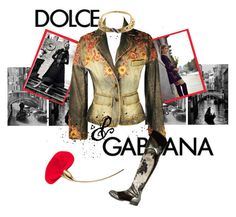 """""""Viva Gabbana!"""" by gryphonsnest ❤ liked on Polyvore featuring Dolce&Gabbana, Dolce Vita, vintage, dolceandgabbana, Italy and vintagejewelry"""